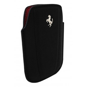 Funda Ferrari Blackberry Modena negra vertical piel